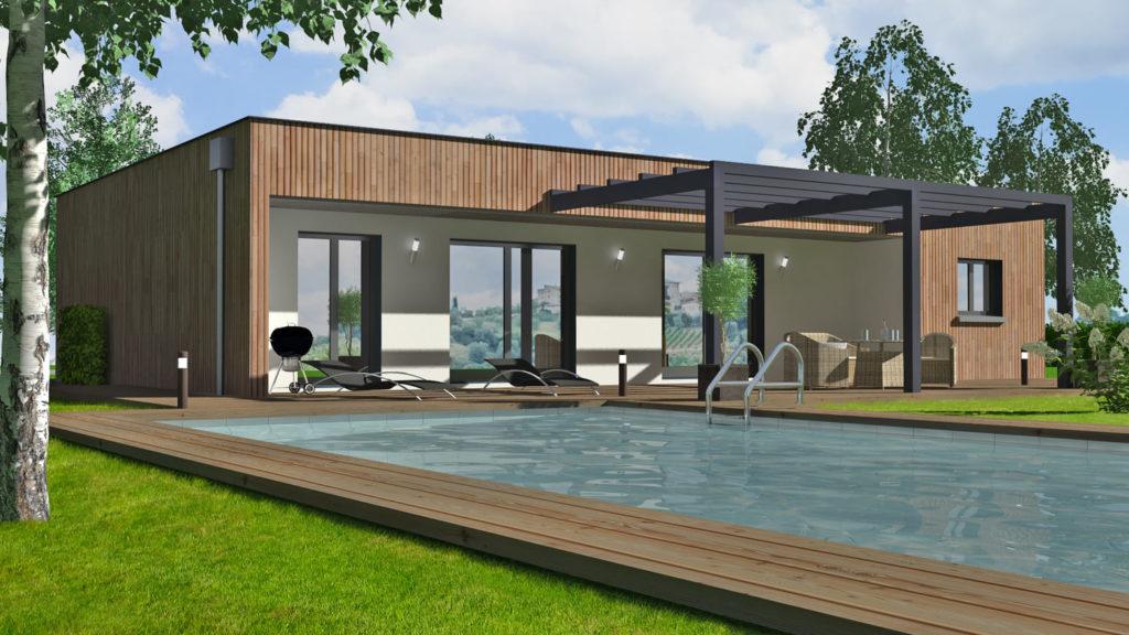 Maison Plain Pied Moderne Contemporaine Prix Plans Modeles