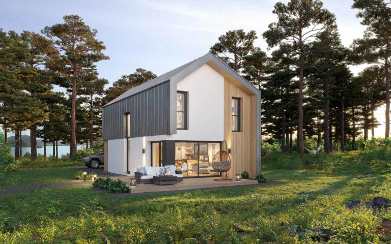 Maison en bois scandinave