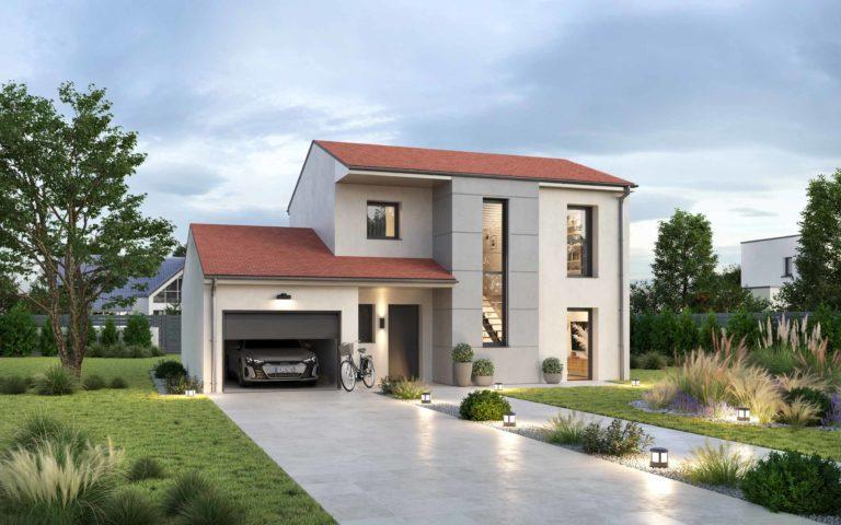 Modèle maison contemporaine